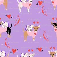 chihuahua love bug cupid costume dog breed purple fabric