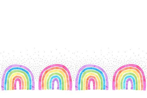Rainbow arch Boarder hotizantal white fabric - schatzibrown
