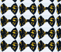 Batman Bowtie fabric - notoriousnikki - Spoonflower