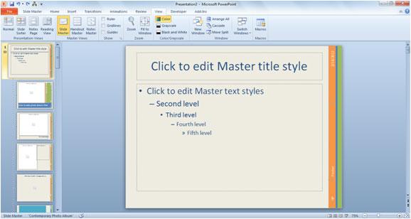 How to Use PowerPoint 2010 Templates Simon Sez IT - powerpoint 2010 templates