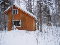 Off-Grid Cabin in Alaska
