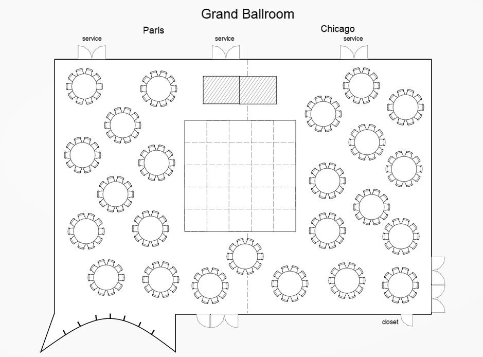 Sofitel Chicago Magnificent Mile - Wedding Ballroom Layout