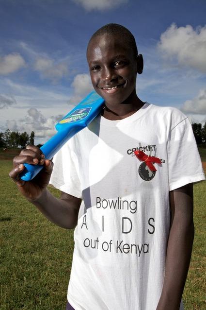 An AIDS orphan promoting AIDS awareness