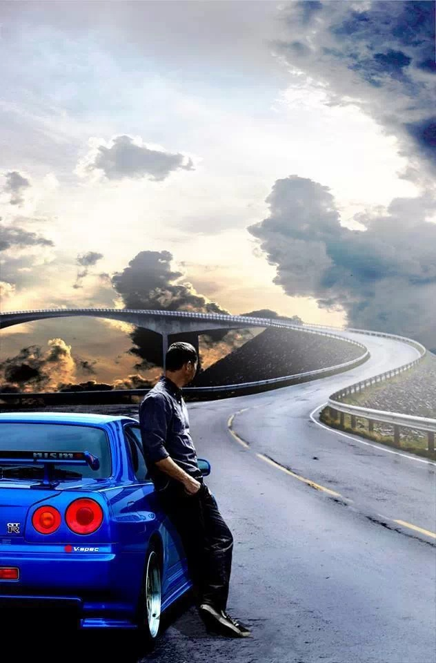 Fast And Furious Iphone 5 Wallpaper Paul Walker R34 Skyline Iphone Wallpaper Rip Race In