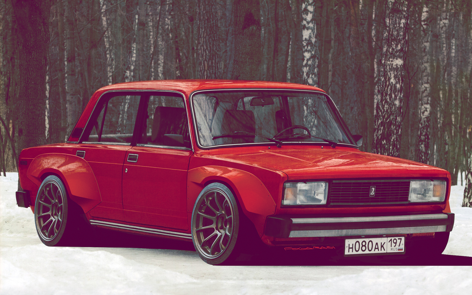 Ferrari Full Hd Wallpaper Lada Riva W Rocket Bunny