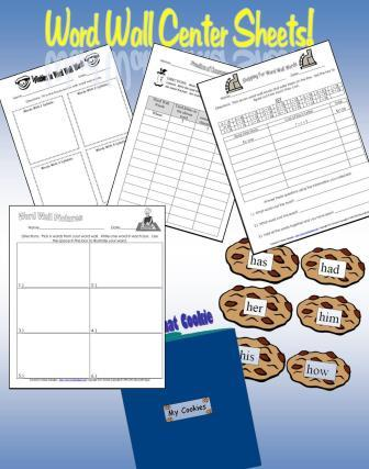 Word Wall Center Sheets and More