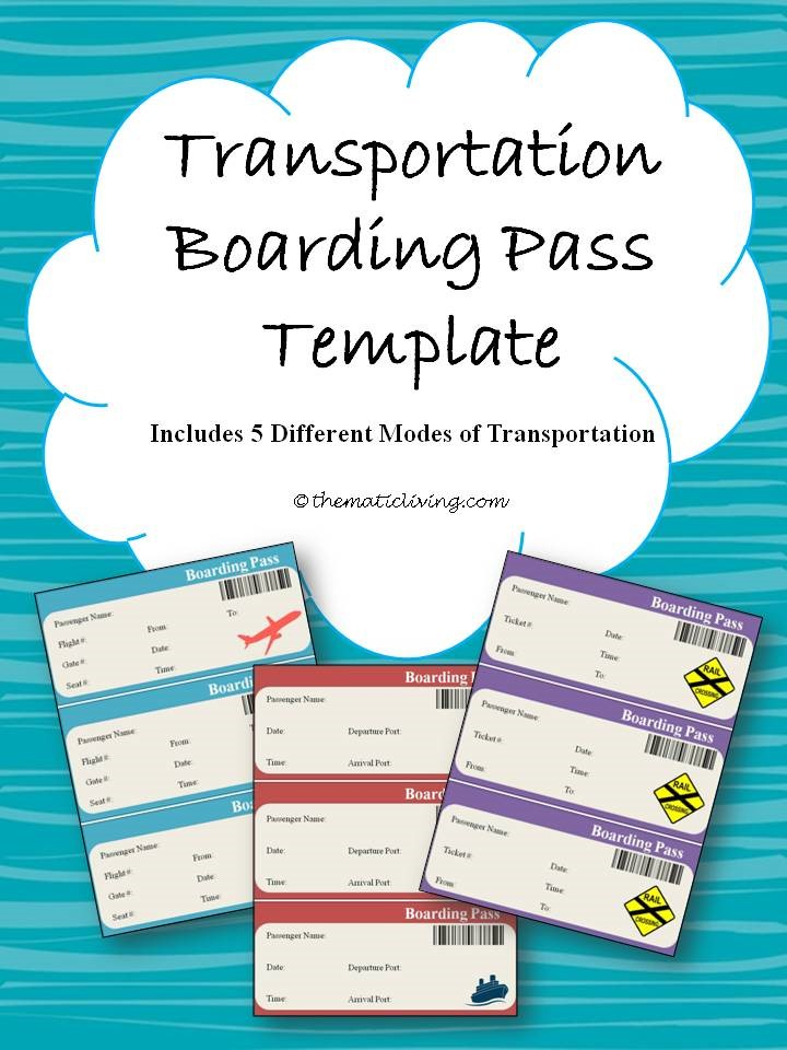 Transportation Boarding Pass Template