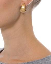 Gold Huggie Lucite Hoop Earring | Alexis Bittar | Halsbrook