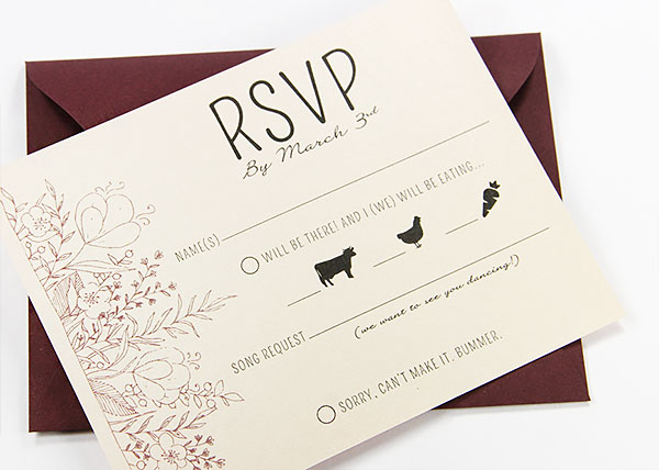 standard wedding rsvp card size - Akbagreenw