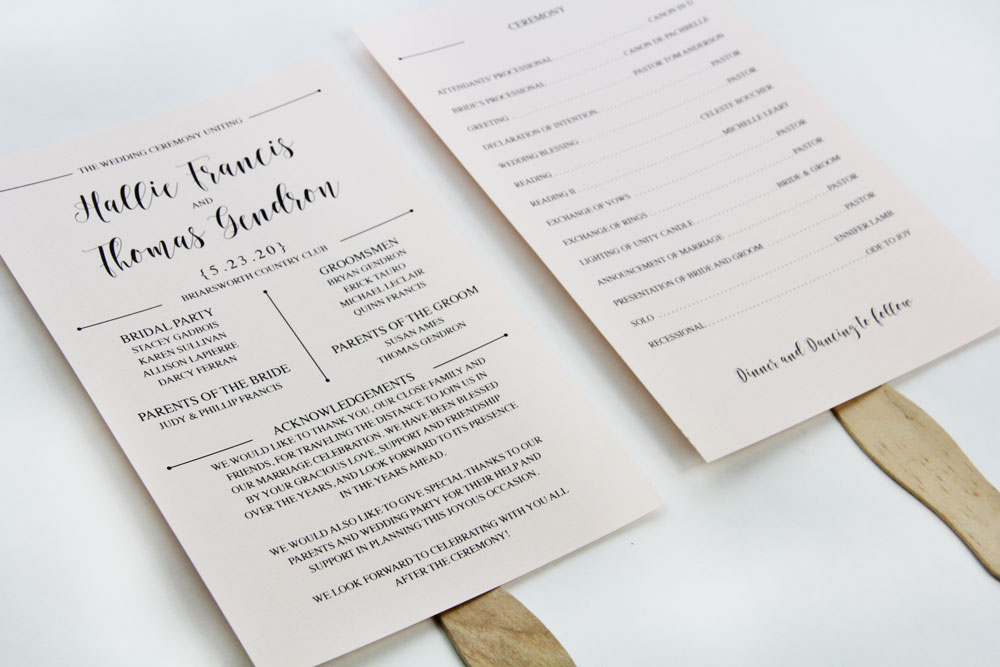 3 Steps to a Stylish Wedding Program Fan LCI Paper - wedding program