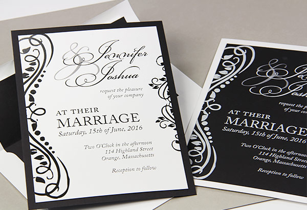 Wedding Invitation Trend - Colorful Layers  Matching Liners
