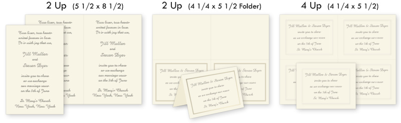 Printable Invitations 2up, 4up, Perforated - LCI Paper - 4up template