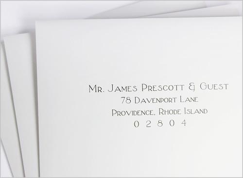 Addressing Wedding Envelopes Calligraphy or Printing?