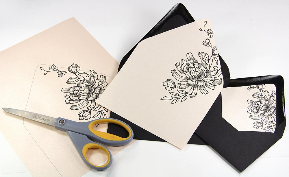 Free Printables - Euro Flap Envelope Liner Templates