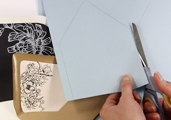 Free Printables - Euro Flap Envelope Liner Templates - Sample 5x7 Envelope Template