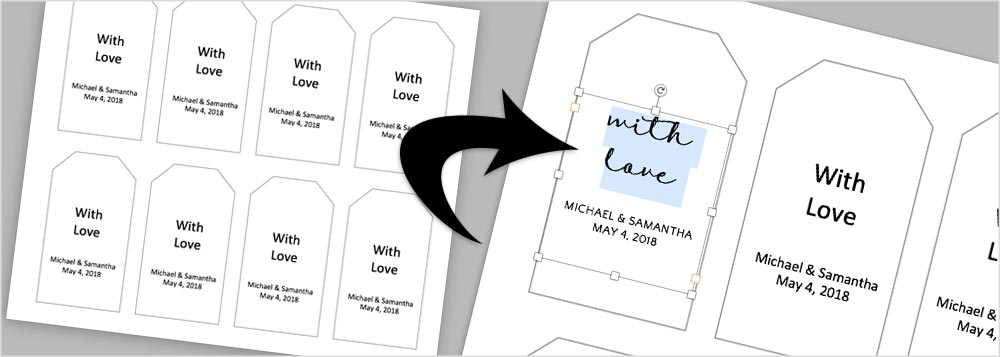 Instructions  Templates to Make Your Own Wedding Favor Tags