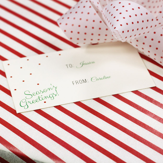 Free Printable Customizable Gift Tags (No Cutting Required!)