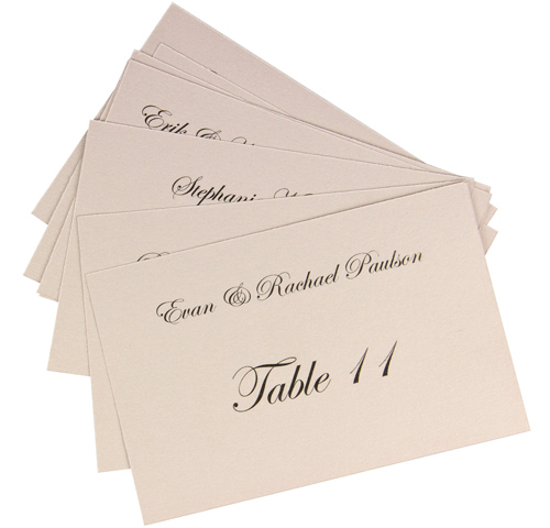 Flat Place Cards Printed In 5 Steps