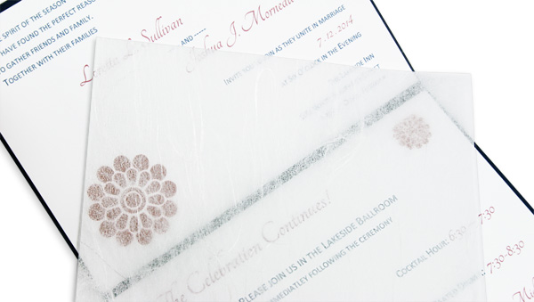 Wedding Invitation Tissue Tissue Paper Inserts