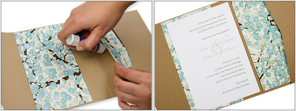 Make Your Own Wood Grain Floral Pocket Fold Invitation