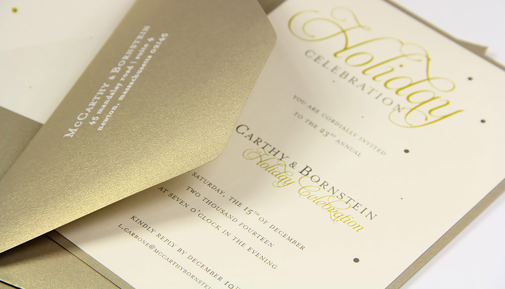 Gold Ivory For Simple Sophisticated Invitations