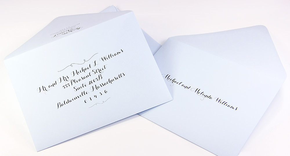 A7 Euro Flap Double Wedding Envelope Sets Now Available