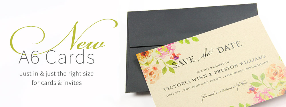 Top Quality A6 Invitation Cards Blank or Printed Now at LCI