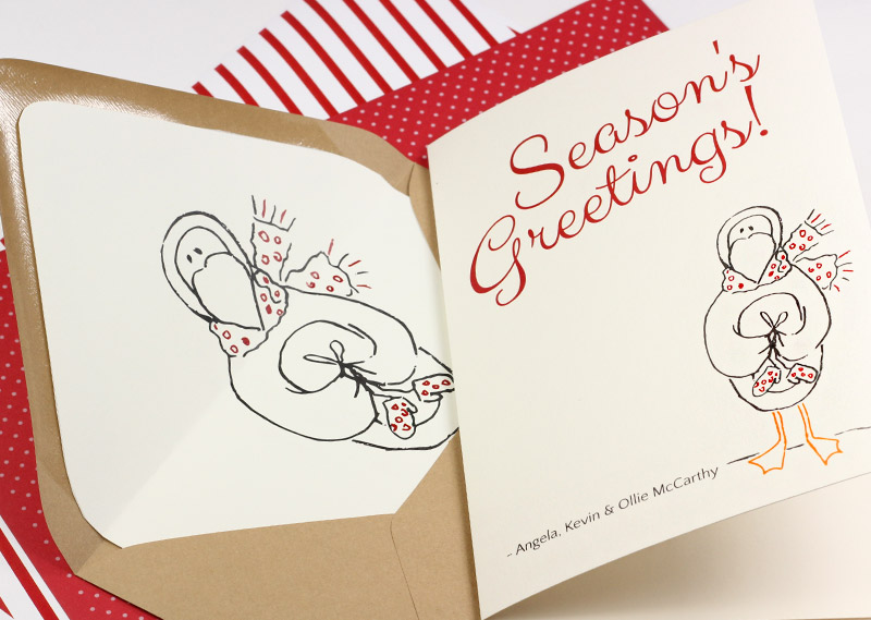 Printable Holiday Cards + Liners on The Paper Chronicles