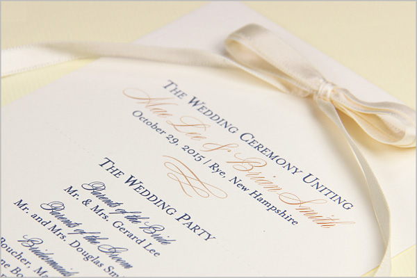 Wedding Ceremony Programs - Stationery To Design, Print, Make Your Own - wedding program
