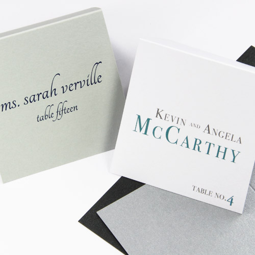 Wedding Place Cards - With Guest Names Printed or Blank