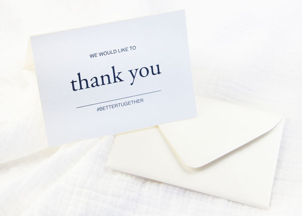 Free Printables - Simple 3 x 5 Folding Thank You Cards