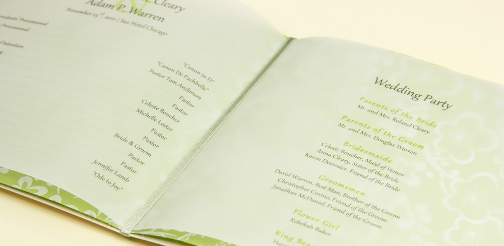 5 Creative Vellum Wedding Program Ideas
