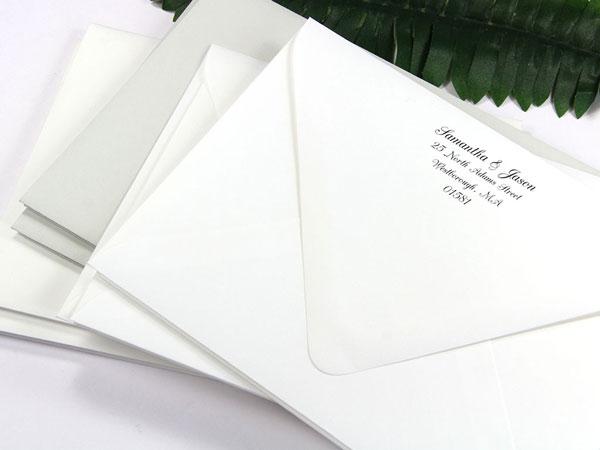 A7 Gmund Cotton Wedding White Envelopes - Euro Flap, 74T - LCI Paper