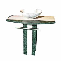 Marble Multi Colored Marble Hand Carved Colored Pedestal Sink