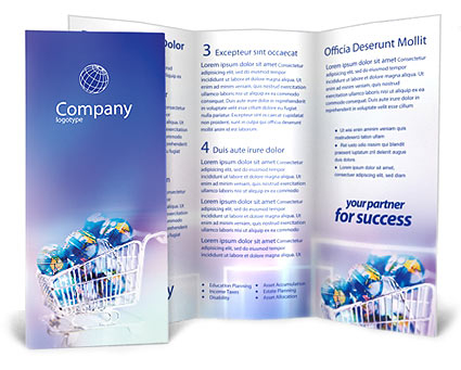 ECommerce Brochure Template  Design ID 0000000007 - SmileTemplates - sales brochure template