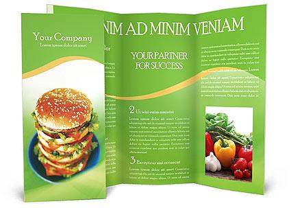 Fast Food Brochure Template - food brochure