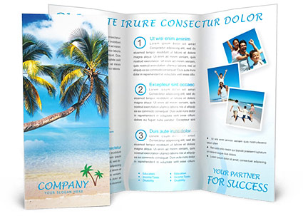 Vacations Brochure Template  Design ID 0000000096 - SmileTemplates - Vacation Brochure Template