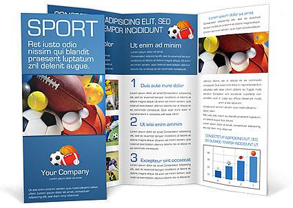 Sport Brochure Template \ Design ID 0000000381 - SmileTemplates - sports brochure