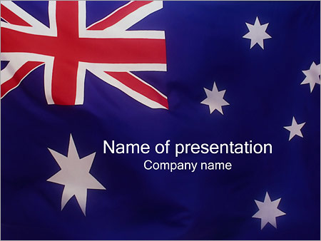 Australian Flag PowerPoint Template, Backgrounds  Google Slides