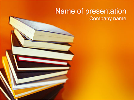 Books PowerPoint Template, Backgrounds  Google Slides - ID - powerpoint books