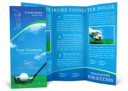 Golf Brochure Template  Design ID 0000000440 - SmileTemplates