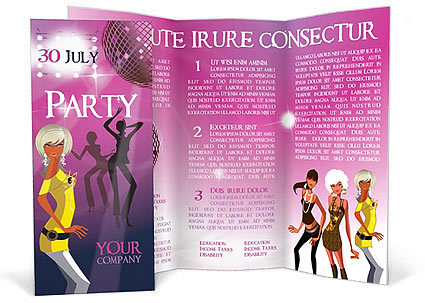 Party Brochure Template  Design ID 0000000483 - SmileTemplates - party brochure template