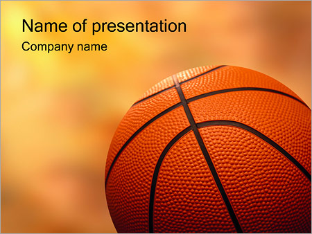 Basketball PowerPoint Template  Backgrounds ID 0000000571 - basketball powerpoint template