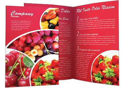 Healthy Food Brochure Template  Design ID 0000000588