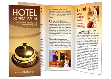 Reception Desk Brochure Template  Design ID 0000000609 - hotel brochure template