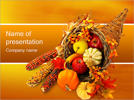 Thanksgiving PowerPoint Template, Backgrounds  Google Slides - ID