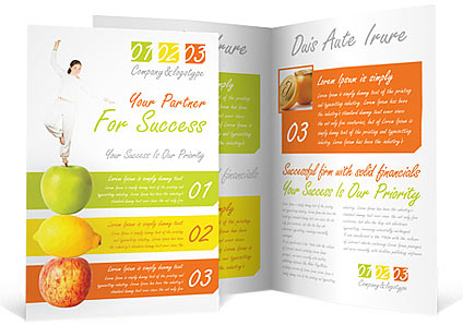 Fitness Brochure Template  Design ID 0000000722 - SmileTemplates - Fitness Brochure