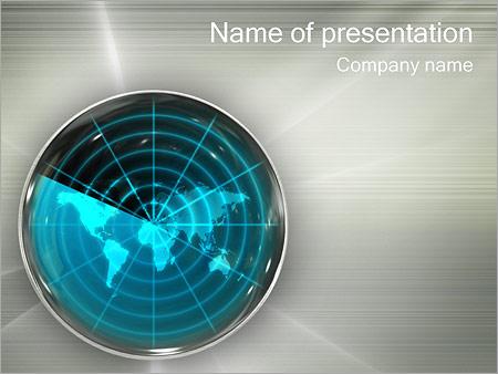 Global Radar PowerPoint Template, Backgrounds  Google Slides - ID - global powerpoint template