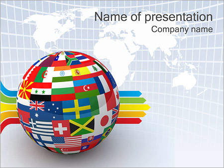Global World Flags PowerPoint Template, Backgrounds  Google Slides - global powerpoint template