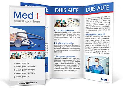 Stethoscope  Medicine Book Brochure Template  Design ID 0000000922 - medical brochure